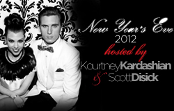 Kourtney Kardashian and Scott New Years Eve 2012