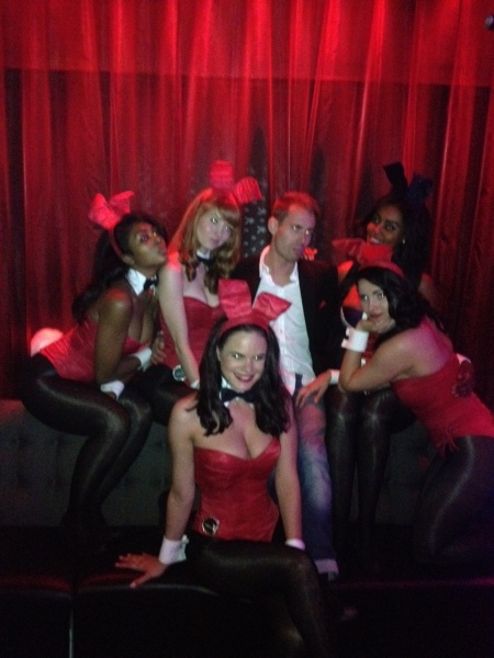 Man About Town, Hayley Sams and the Playboy Bunnies
